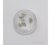 Резиновые аппликации для ногтей (узкие листья, синий)