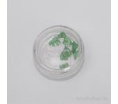 Резиновые аппликации для ногтей (широкие листья, зеленый)