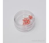 Резиновые аппликации дл ногтей (большие бабочки, красный)