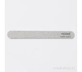 Пилка для искусственных ногтей (серая, закруглённая, 120/120)