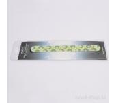 Пилка для натуральных ногтей (зелено-желтая, закругленная, 240/240), RU-0627