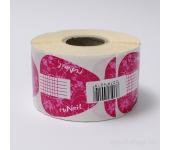 Одноразовые формы для ногтей (широкие, розовые), 500 шт