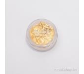 Фольга для дизайна ногтей (золотой)