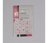 Наклейки для дизайна ногтей ЗD (бабочки и цветы) №1462