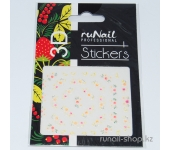 Наклейки для дизайна ногтей 3D (цветы) №1633