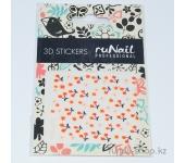 Наклейки для дизайна ногтей 3D (ягоды и цветы) №1653