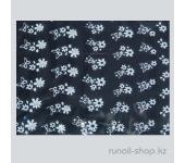Наклейки для дизайна ногтей 3D (белые цветы) №1662