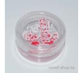 Акриловые цветы для дизайна ногтей (розы, красный), 10 шт